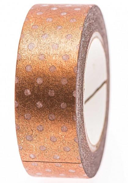 Gepunktetes Kupfer Washi Tape 10m