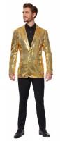 Sequins Gold Suitmeister Jacket für Herren