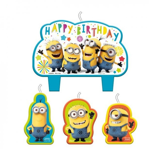 Minions Hooray Party Cake Velas