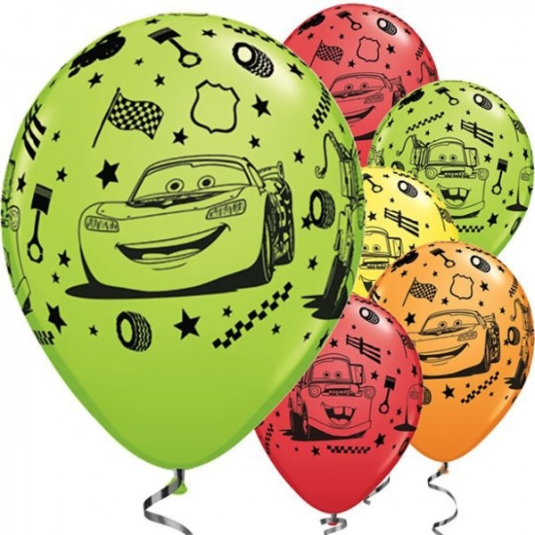 25 Cars Racing Friends Luftballons 28cm