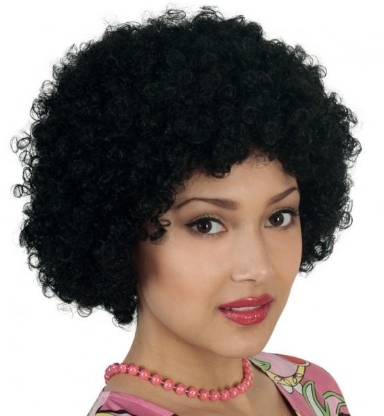70er Jahre Perücke Afro schwarz