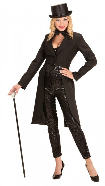 Burlesque Lady Tailcoat Noir