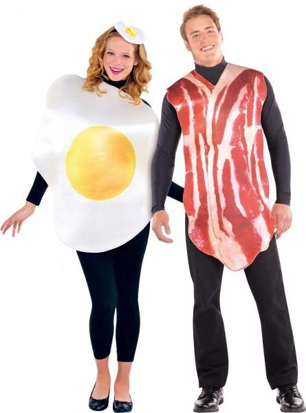 Costume da colazione inglese Baconeggy per due