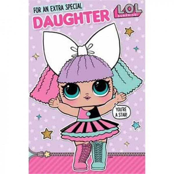 L.O.L Surprise Special Daughter Geburtstagskarte