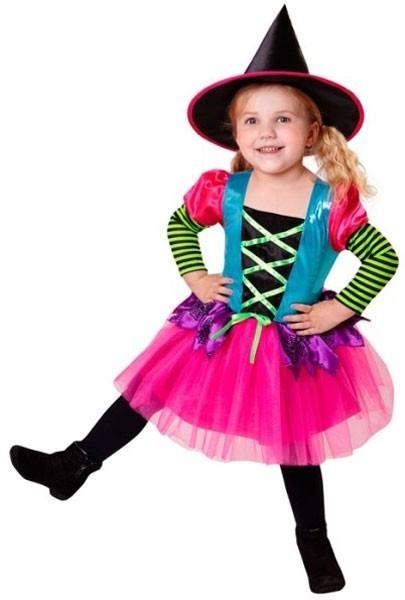 Costume da strega arcobaleno bambina