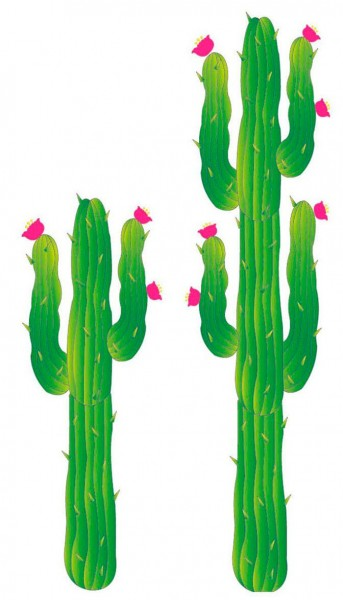 Grüne Kaktus Wanddeko