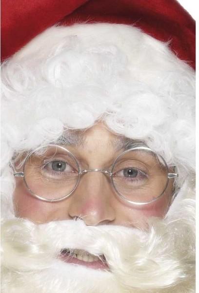 Silberne Weihnachtsmann Brille