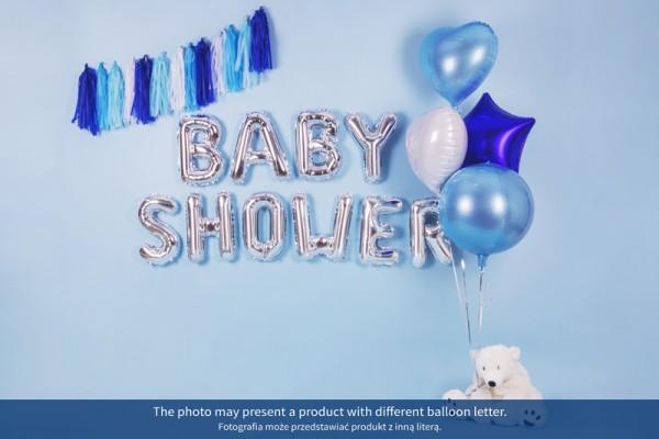 Foil balloon D silver 35cm