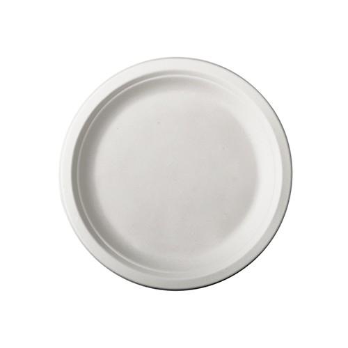 50 assiettes rondes de canne à sucre Tosca 15cm