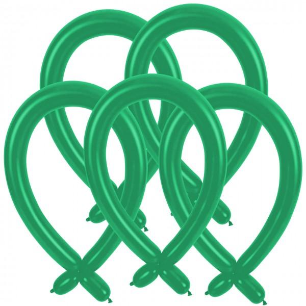 100 ballons à modeler verts