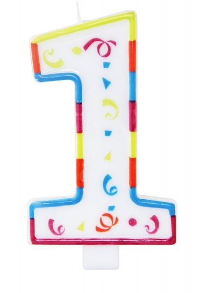 Duża świeczka urodzinowa numer 1 XL