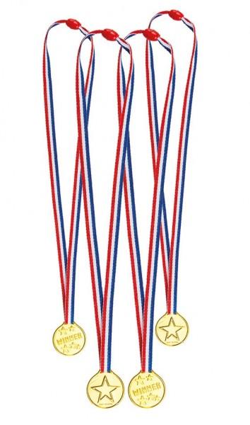 4er Set Medaillen