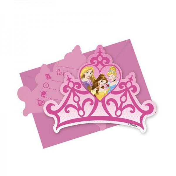 6 Disney Prinzessinnen Enchanted Moments Einladungskarten