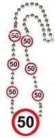 Verkehrsschild 50 Halskette