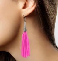 Fransen Ohrring Neon-Pink