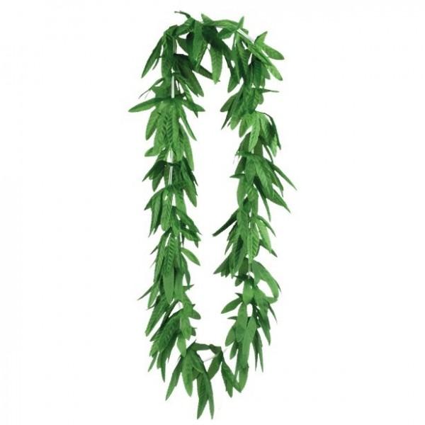 Cadena de hojas de cáñamo verde