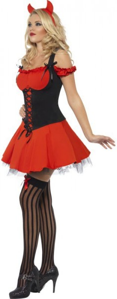 Sexy witch woman costume black-red