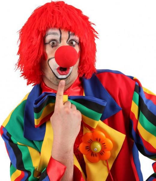 Clown Perücke Sam Rot