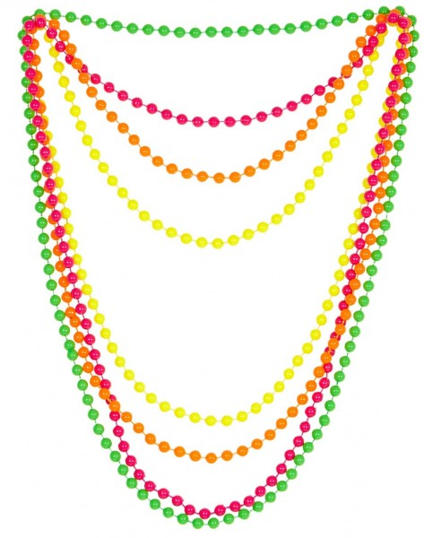 Ensemble de colliers de perles néon colorés