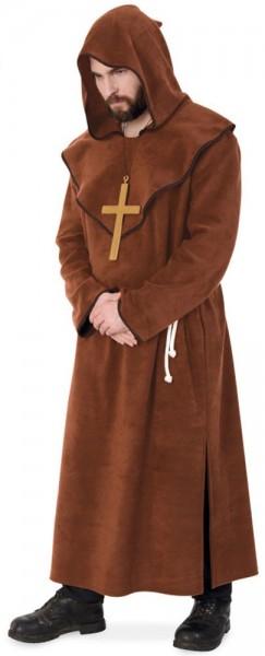 Déguisement de moine deluxe marron pour homme