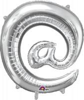 Folienballon Symbol @ silber 81cm