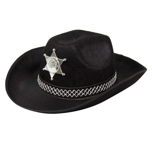 Cowboyhut Sheriff Jones schwarz