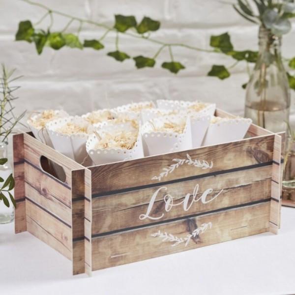 Märchenhochzeit Holzoptik Kiste