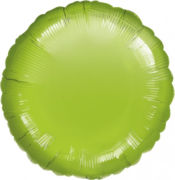 Round foil balloon lime green 45cm