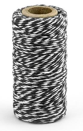 50 m de hilo de algodón en blanco y negro