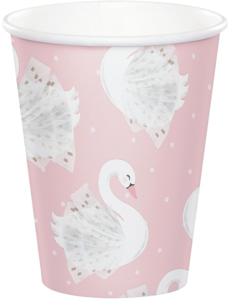8 Royal Swan Pappbecher 256ml