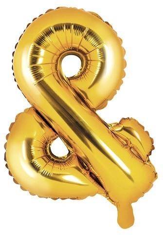 & Signer ballon aluminium doré 35cm
