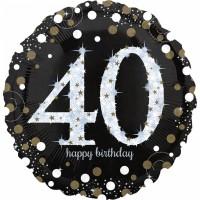 Golden 40th Birthday Folienballon 71cm