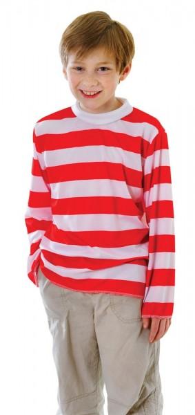 Rot Weiß Gestreiftes Kindershirt