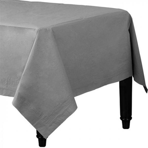Paper Tablecloth Silver 90cm x 90cm