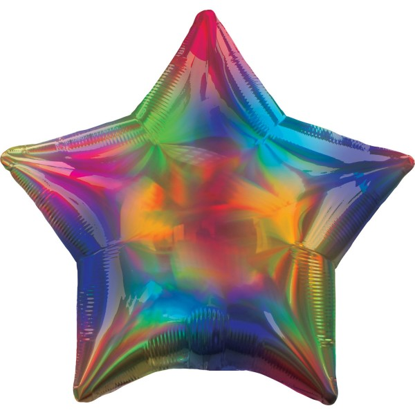 Holographic foil balloon colored 45cm