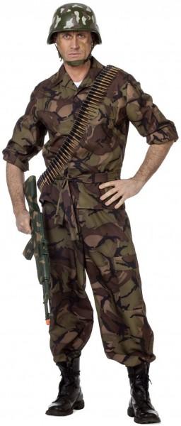 Camouflage Armee Soldat Kostüm