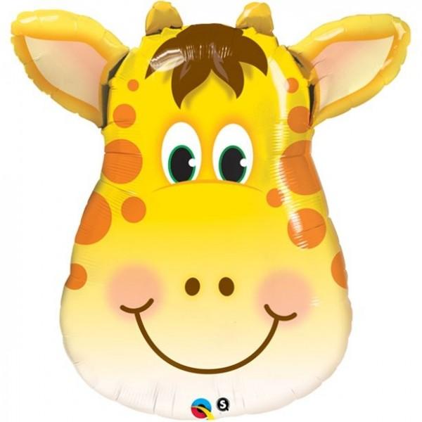 Globo de foil con cabeza de jirafa 81cm
