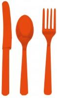 Besteckset Toscana orange 24-teilig