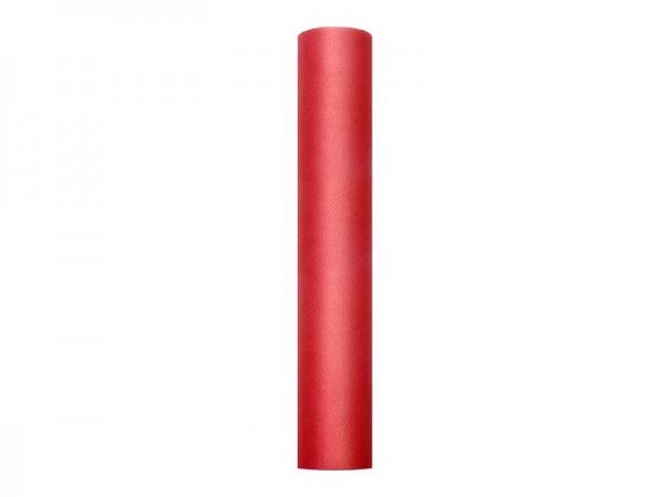 Tissu Tulle Luna rouge 9m x 30cm