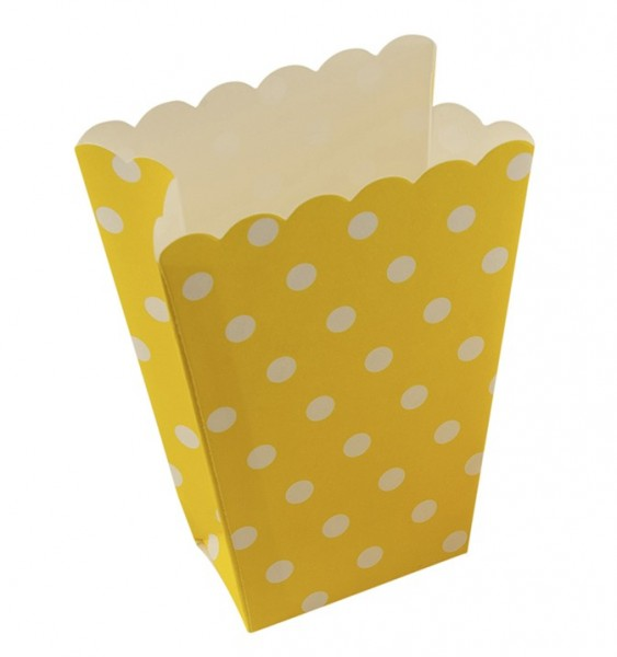 Points fun yellow popcorn snack bag set of 8