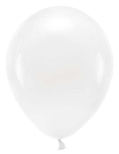 10 Ballons Eco pastel blancs 26cm