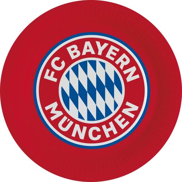 8 FC Bayern München Pappteller 23cm