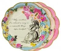 12 Alice im Wunderland Pappteller 17cm