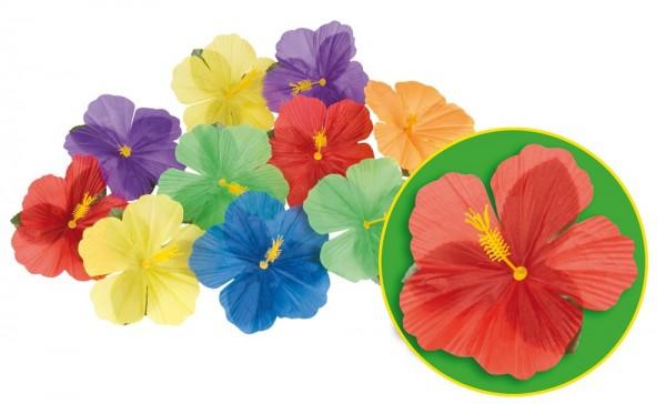 Flores de hibisco hawaiano 24 piezas