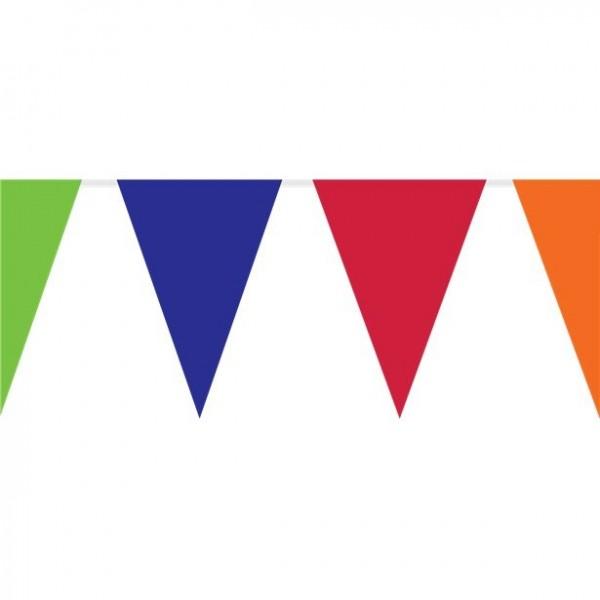 Chaîne fanion XXL Garden Party colorée 10m