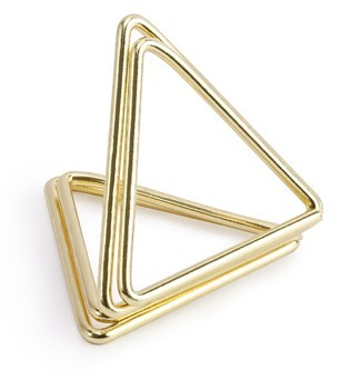 10 porte-cartes triangle or