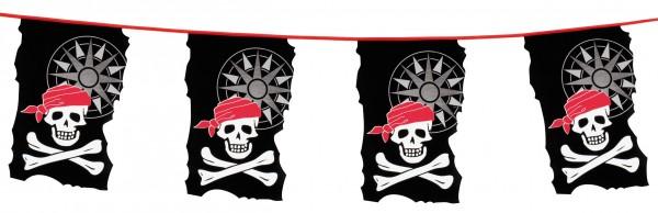 Piraten Totenkopf Wimpelkette 10m