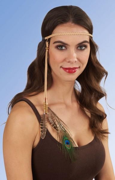 Stirnband Mit Pfauenfeder