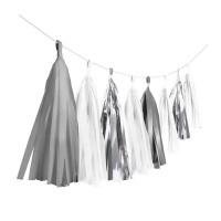 Shiny Silver Fransengirlande 3m