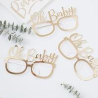 8 Goldene Oh Baby Partybrillen